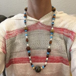 Italian glass beaded necklace- handmade